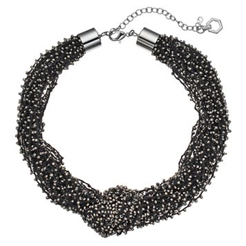 Simply Vera Vera Wang Chunky Knotted Seed Bead Necklace