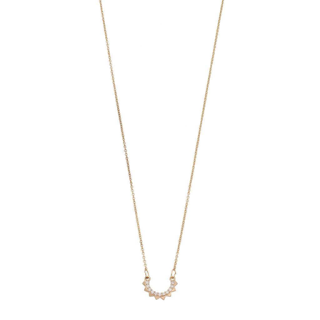 LC Lauren Conrad Simulated Crystal Semicircle Spike Necklace