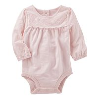 Baby Girl OshKosh B'gosh® Eyelet Bodysuit
