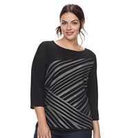 Plus Size Dana Buchman Striped Boatneck Tunic