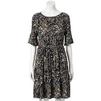 Women's LC Lauren Conrad Floral Fit & Flare Dress