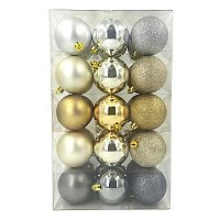 St. Nicholas Square® Gold & Silver Finish Shatterproof Christmas Ornaments 30-piece Set