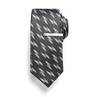 Men's Apt. 9® Patterned Skinny Tie with Tie Bar