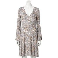 Women's LC Lauren Conrad Faux-Wrap Floral Midi Dress