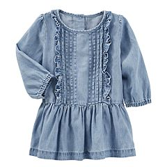 Baby Girl OshKosh B'gosh® Drop Waist Chambray Dress