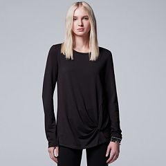 Women's Simply Vera Vera Wang French Terry Twist Tee