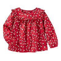 Baby Girl OshKosh B'gosh® Ruffled Floral Twill Top