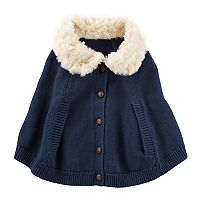 Baby Girl OshKosh B'gosh® Sweater Poncho Cape