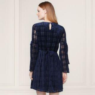 LC Lauren Conrad Runway Collection Velvet Fit & Flare Dress - Women's