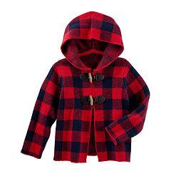 Baby Girl OshKosh B'gosh® Buffalo Check Midweight Sweater Jacket