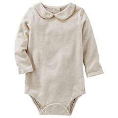 Baby Girl OshKosh B'gosh® Peter Pan Collar Jersey Bodysuit