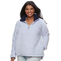 Juniors' Plus Size SO® Perfectly Soft Sherpa Sweatshirt