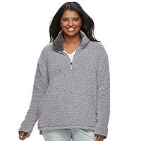 Juniors' Plus Size SO® Perfectly Soft Sherpa Sweatshirt