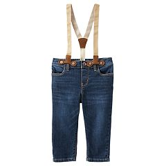Baby Girl OshKosh B'gosh® Girlfriend Jeans & Suspenders Set