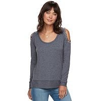 Women's Juicy Couture Embellished Cold-Shoulder Tee