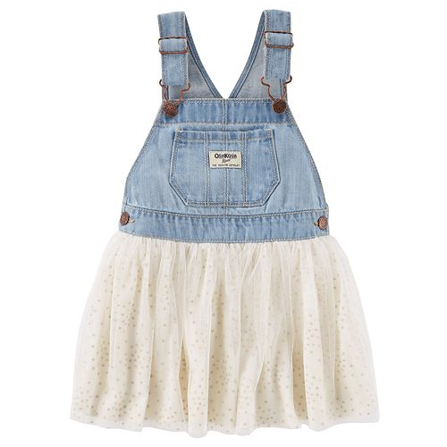 Baby Girl OshKosh B'gosh® Denim & Glitter Dot Tulle Jumper