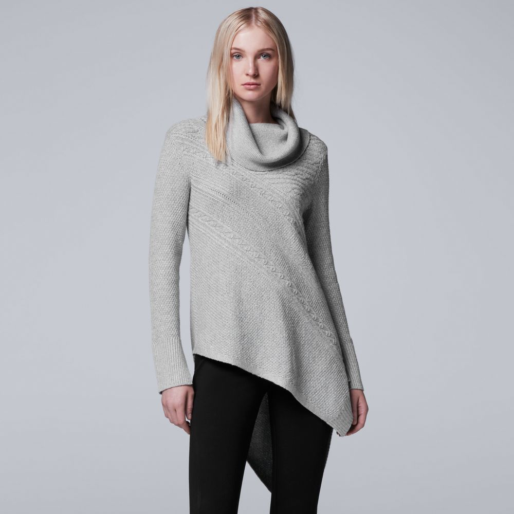 Simply Vera Vera Wang Asymmetrical Cowlneck Sweater