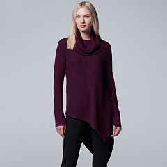 Women's Simply Vera Vera Wang Asymmetrical Cowlneck Sweater