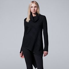 Women's Simply Vera Vera Wang Asymmetrical Cowlneck Sweater