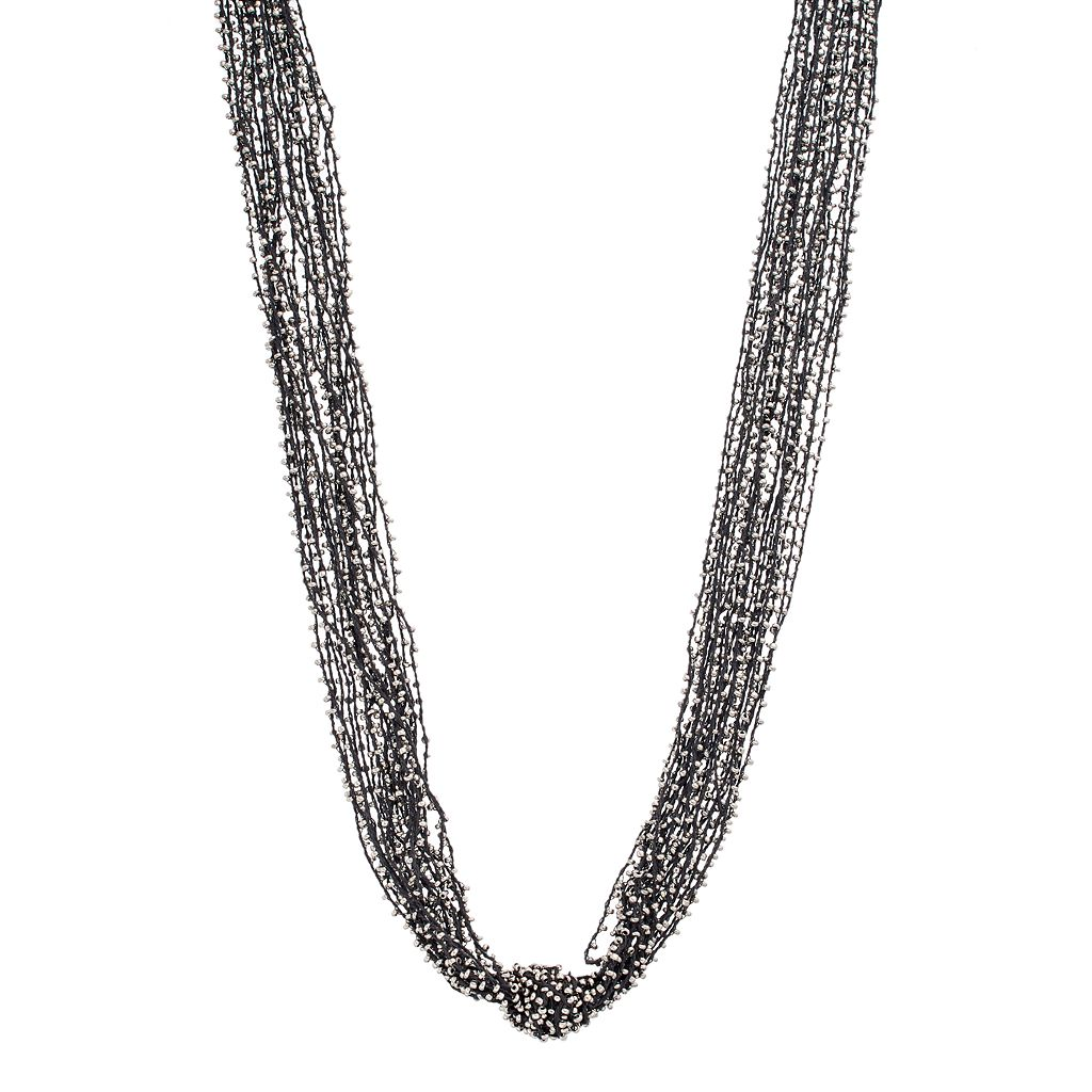 Simply Vera Vera Wang Long Knotted Seed Bead Multi Strand Necklace