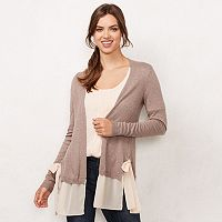 Women's LC Lauren Conrad Mixed-Media Cardigan