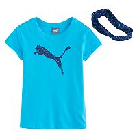 Girls 4-6x PUMA Tee & Bandana Set