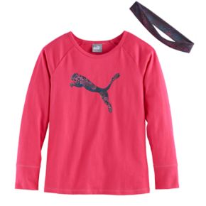 Girls 4-6x PUMA Graphic Tee & Headband Set