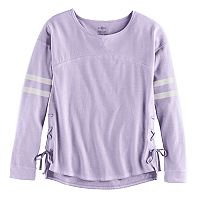 Girls 7-16 & Plus Size SO® Lace-Up Side Tee