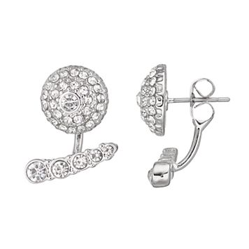 Simply Vera Vera Wang Pave Dome Nickel Free Front Back Earrings