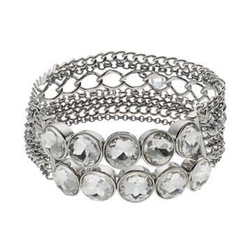 Simply Vera Vera Wang Chain & Round Stone Stretch Bracelet