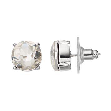 Simply Vera Vera Wang Simulated Crystal Nickel Free Round Stud Earrings