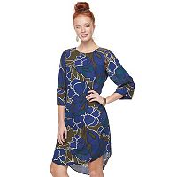 Women's Apt. 9® Print Lace Inset Shift Dress