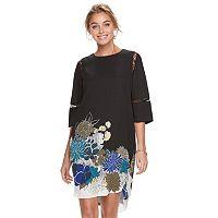 Women's Apt. 9® Print Lace Inset Shift Dress