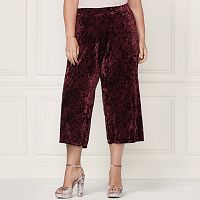 LC Lauren Conrad Runway Collection Wide-Leg Crop Velvet Pants - Plus Size