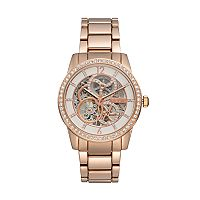 Relic Women's Amelia Crystal Automatic Skeleton Watch