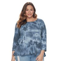 Plus Size SONOMA Goods for Life™ Textured Swing Tee