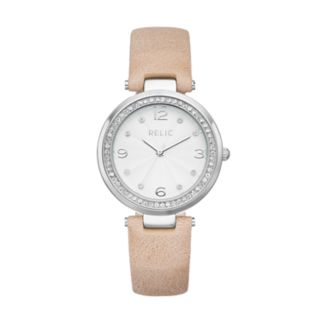 Relic Women's Kaitlyn Crystal Leather Watch