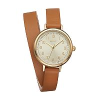 Relic Women's Reece Crystal Leather Wrap Watch