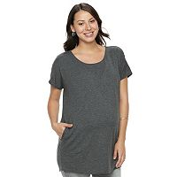 Maternity a:glow Gray Tunic