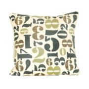 Pomeroy Numbers Throw Pillow