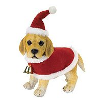 Melrose Yellow Lab Dog Christmas Table Decor