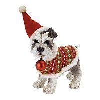 Melrose Scottie Dog Christmas Table Decor