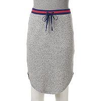 Juniors' SO® Striped Sporty Midi Skirt