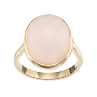 LC Lauren Conrad Pink Oval Ring