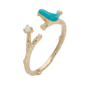 LC Lauren Conrad Blue Bird Branch Ring