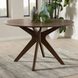 Baxton Studio Monte Mid-Century Round Dining Table