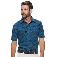 Men's Croft & Barrow® Classic-Fit Stretch Crosshatch Button-Down Shirt