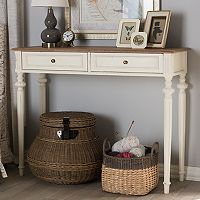 Baxton Studio Marquetterie French Country Console Table