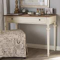 Baxton Studio Marquetterie French Country Desk