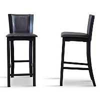 Baxton Studio Rinko Faux-Leather Bar Stool 2-piece Set